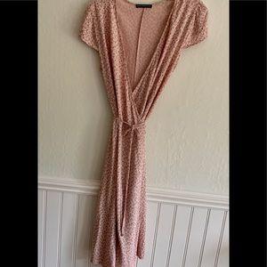 New Brandy Melville Floral Wrap Dress